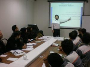 حسین عبدی - تدریس دوره آموزشی ارزیابی اثربخشی اقدامات اصلاحی و پیشگیرانه در شرکت خدمات مهندسی سازه های هیدرولیک