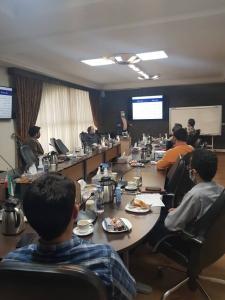 تدریس دوره آموزشی مدیریت ریسک سازمانی ERM در محل شرکت پایندان